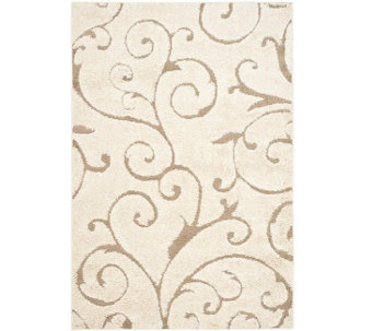 "Safavieh 5'3""x7'6"" Scroll Design Florida Shag Area Rug - H209874"