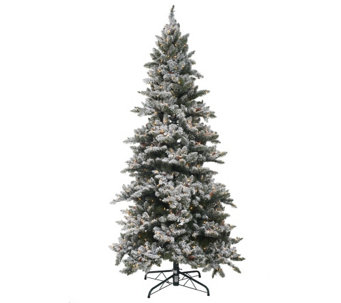 """As Is"" Bethlehem Lights 7.5' Woodland Pine Christmas Tree - H210274"