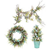 Foiled Egg Wreath, Garland or Potted Cone Tree by Valerie
