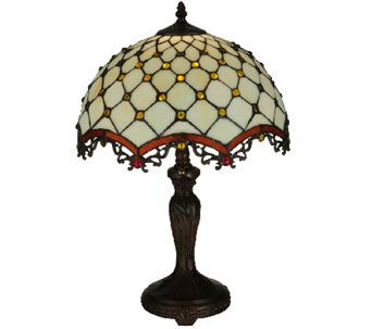 Meyda Tiffany-Style Diamond & Jewel Table Lamp - H285274
