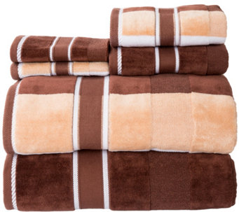 Lavish Home 100% Cotton Oakville Velour 6-PieceTowel Set - H290774