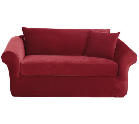 Sure Fit Stretch Pique 3-Piece Love Seat Slipcover