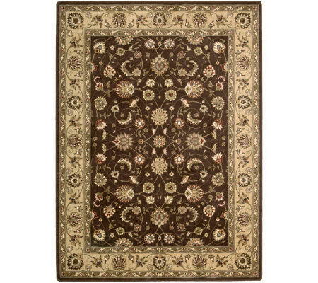 "Nourison Atlas 5'6"" x 7'5"" Persian Machine-MadeFramed Rug"