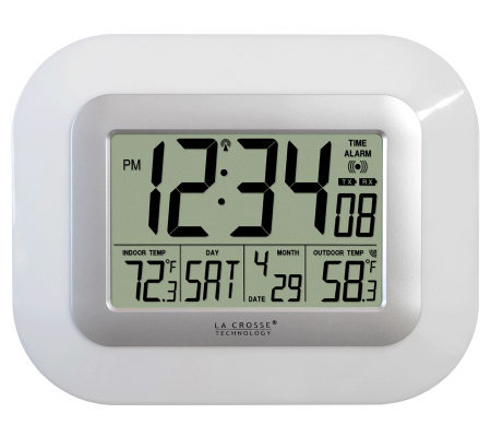 La Crosse Technology WS-811561W Solar Digital Wall Clock