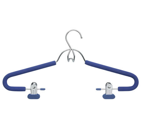 Honey-Can-Do 4-Pk Blue Foam Grip Skirt/Pant Hangers