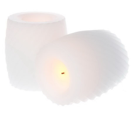 "CandleImpressio Set of 2 4"" Flameless Scented Candles with Timer"