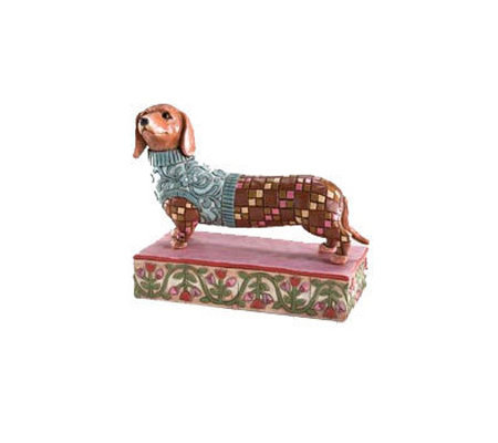 Jim Shore Heartwood Creek Dachshund Dog Figurine
