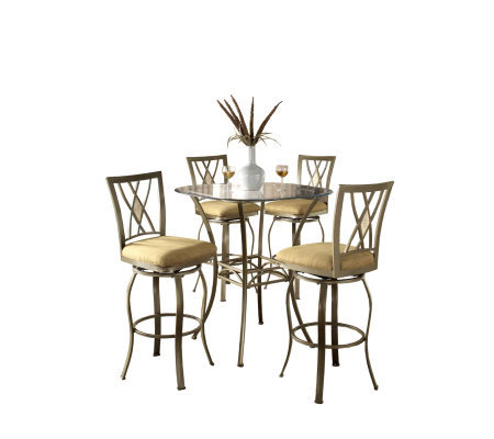 Hillsdale House Brookside 5-Piece Bistro Set -Crisscross