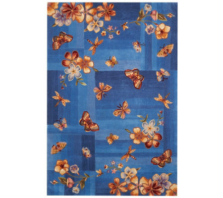 "Royal Palace Butterfly Radiance 5' x 7'6"" Wool Rug"