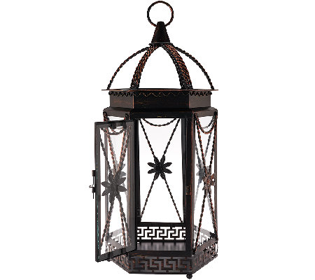 "20"" Indoor/Outdoor Metal Lantern by Home Reflections"