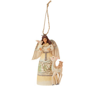 Jim Shore Heartwood Creek Woodland Angel Ornament - H209675