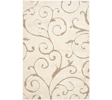 Safavieh 8'x10' Scroll Design Florida Shag Area Rug