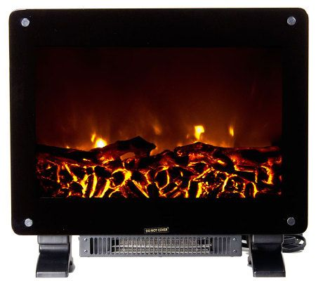 Warm House Dallas Floor-Standing Electric Fireplace — QVC.com
