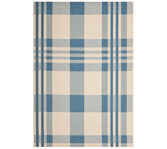 "Safavieh 5'3"" x 7'7"" Plaid Indoor/Outdoor Rug - H283075"