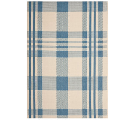 "Safavieh 5'3"" x 7'7"" Plaid Indoor/Outdoor Rug"