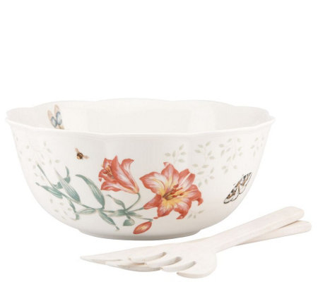 Lenox Salad Bowl with Servers