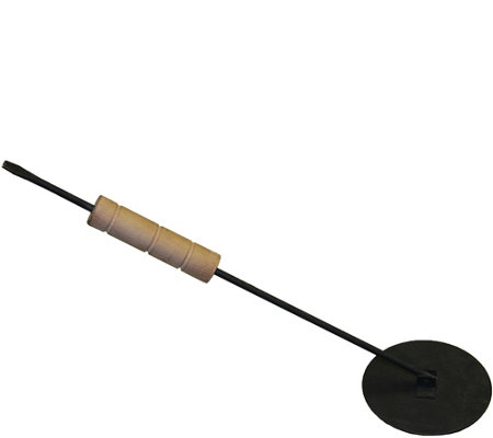 Real Flame Black Snuffer with Wood Handle