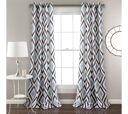 Kevin Diamond Room Darkening Window Curtains byLush Decor