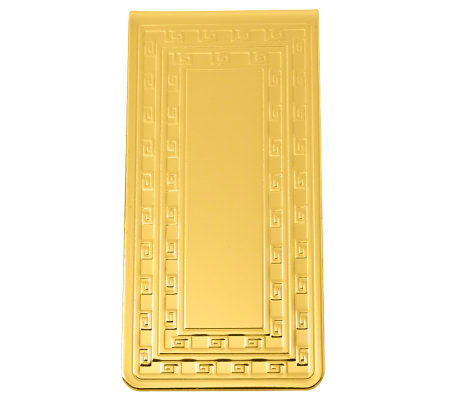 Goldtone Money Clip with Center Plaque for Engraving