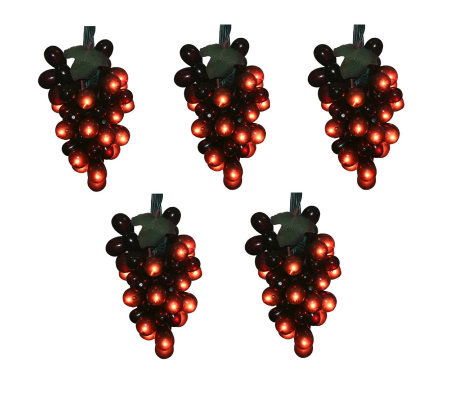 Set of 5 Red Grape Clusters Set by Vickerman