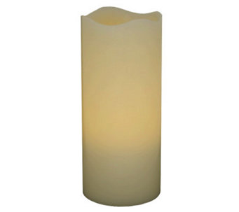 "Pacific Accents 3"" x 8"" Melted Top Flameless Candle - H353275"
