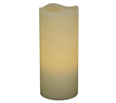 "Pacific Accents 3"" x 8"" Melted Top Flameless Candle"