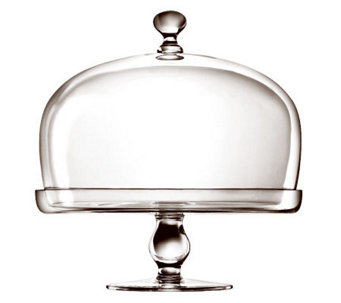 Luigi Bormioli Michelangelo Footed Cake Plate with Dome - H364975