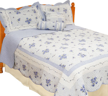 Country Living Trellis Garden 100% Cotton Quilt Ensemble