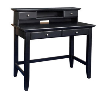 Home Styles Ebony Bedford Student Desk/Hutch Combination - H155976