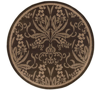 "Couristan Recife Cottage Indoor/Outdoor 8'6""Diam Round Rug - H175076"