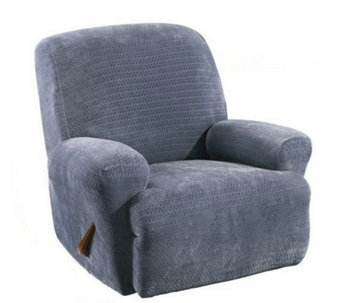 Sure Fit Stretch Royal Diamond Recliner Slipcover - H180576