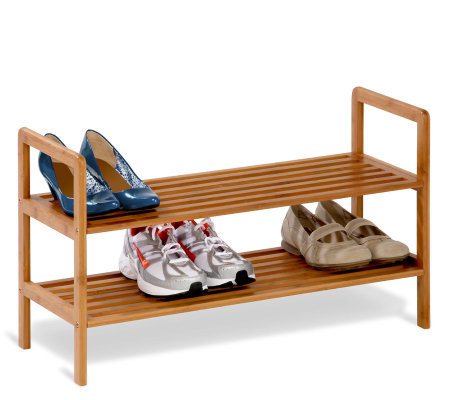 Honey-Can-Do 2-Tier Bamboo Shoe Shelf