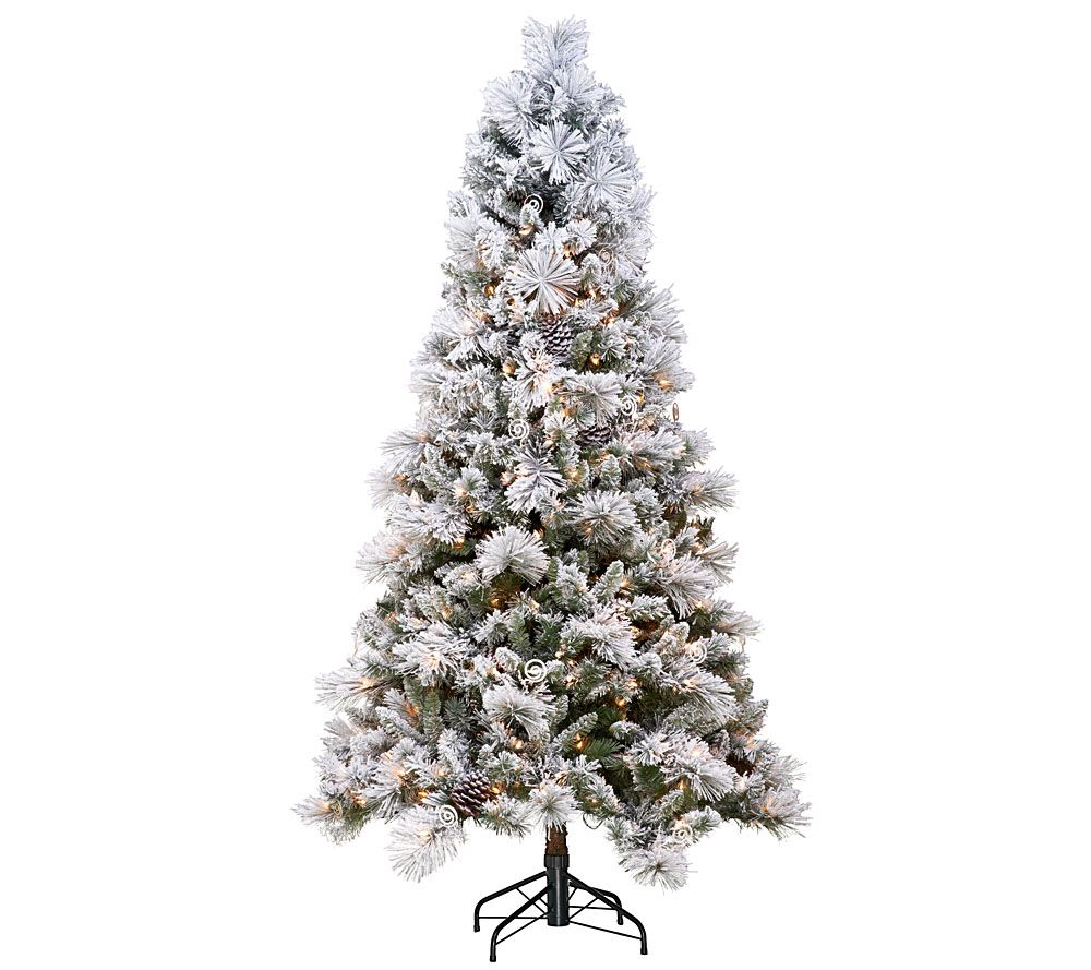 Hallmark 6.5' Sugared Spruce Tree with Quick Set Technology — QVC.com