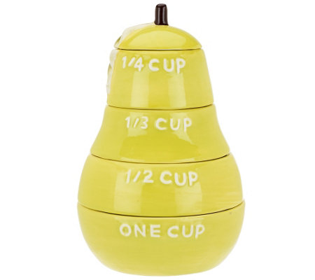 ED On Air Ceramic Fruit Measuring Cups by Ellen DeGeneres