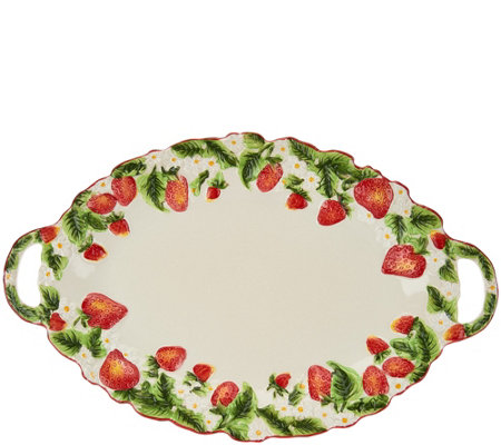 "Temp-tations Figural Fruit 18"" Platter"
