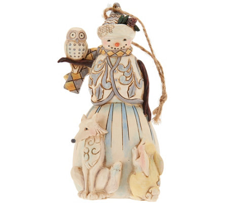 Jim Shore Heartwood Creek Woodland Snowman Ornament