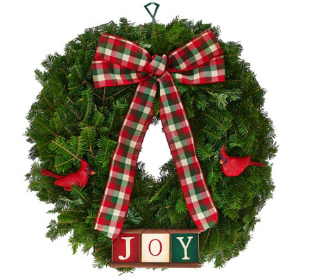 Del. Week 12/12 Fresh Balsam Holiday Wreath by Valerie