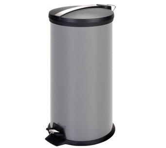 Honey-Can-Do 30-Liter Step Trash Can w/Stainless, Gray - H288876