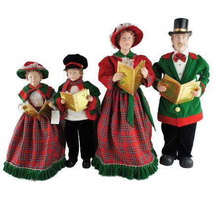 "Set of 4 20"" to 27"" Christmas Day Carolers by Santa's Workshop"