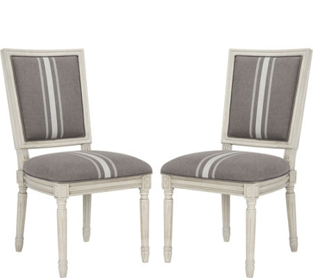 Buchanan Set of Two Gray Rect Side Chairs by Valerie