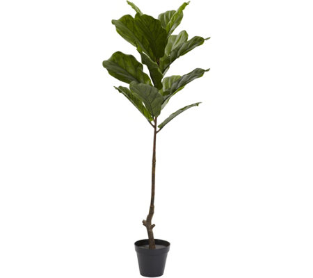 4' Indoor/Outdoor Fiddle Leaf Tree by Nearly Natural