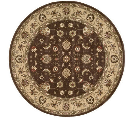 "Nourison Atlas 5'6"" Round Persian Machine-MadeFramed Rug"