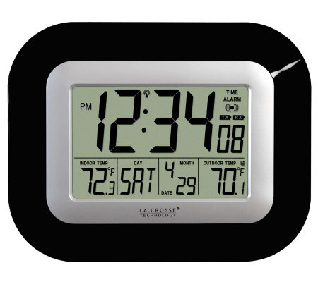 La Crosse Technology WS-8115U-B Atomic DigitalWall Clock
