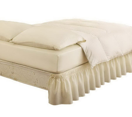 EasyFit Twin/Full Wraparound Solid Ruffled BedSkirt