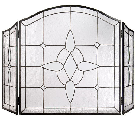 Handmade Stained Glass Fireplace Screen by David Shindler  Page 1