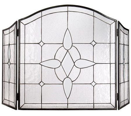Brilliant Glass Fireplace Screens Stained Screen Throughout