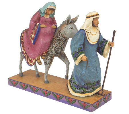 Jim Shore Heartwood Creek Mary & Joseph with Donkey Figurine