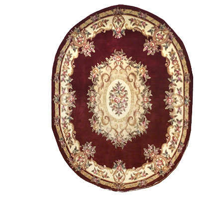 Royal Palace Victorian Aubusson 8 X10 Oval Wool Rug Qvc Com