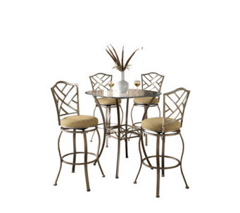 Hillsdale House Brookside 5-Piece Bar-Height Bistro Set - H159377