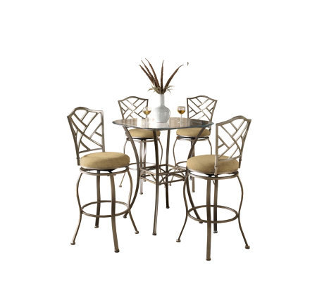 Hillsdale House Brookside 5-Piece Bar-Height Bistro Set